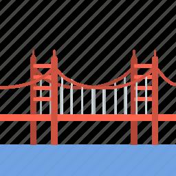 bridge, california, gate, golden, golden gate, golden gate bridge, travel icon