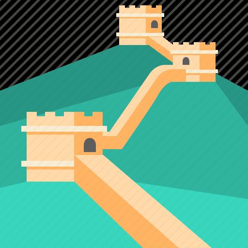 china, great wall of china, greatwall, landmark, travel icon