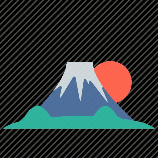 fuji, japan, landmarks, mount fuji, mountain, travel, volcano icon