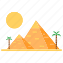 egyptian pyramids, holiday, mud-brick, pyramid, pyramid-shaped, summer icon