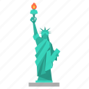 liberty, new york, of, sculpture, statue, statue of liberty, travel icon