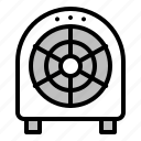 air, fan, floor fan, propeller, ventilation icon