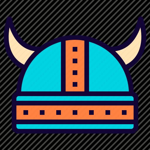 celtic, fancy, game, hat, helmet, horn, vikings icon