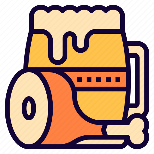 beer, chicken, food, meal icon
