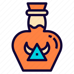 bottle, hp, medicine, poison, potion icon