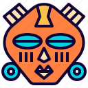 fancy, game, island, mask, medieval, tribal, vikings icon