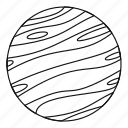 line, little planet, outline, planet, sphere, thin, world icon