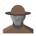 avatar, fantasy, hat, peasant icon