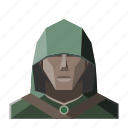 avatar, fantasy, hood, rogue, roleplay icon