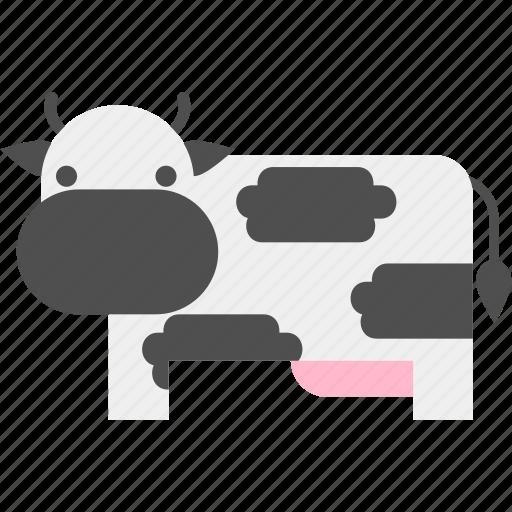 cow, farm, farmland, field, garden, harvest, landscape icon