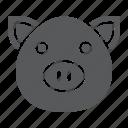 animal, farm, head, meat, pig, piggy, pork icon