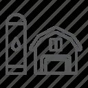 agriculture, barn, building, farm, hangar icon