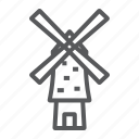 energy, farm, flour, mill, wind, windmill icon