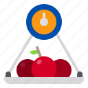 apple, food, fruit, kitchen, restaurant, scales, vegetable icon