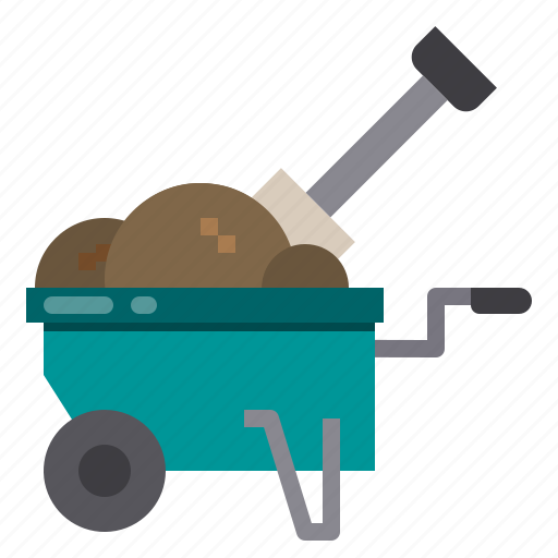 agriculture, farm, gardening, plant, wheelbarrow icon