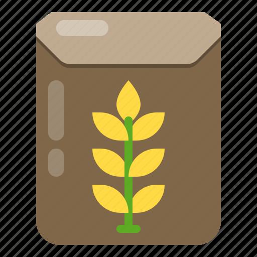 bag, briefcase, farming, rice, shopping icon