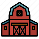 barn, buildings, estate, farm, gardening, real icon