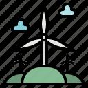 ecologic, ecological, ecology, eolian, technology, windmills icon