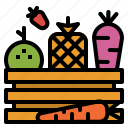 food, fruit, healthy, organic, salad, vegetables icon
