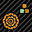 dry, farm, field, grass, silage icon