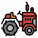 agriculture, farm, tractor, transport, transportation, vehicle icon