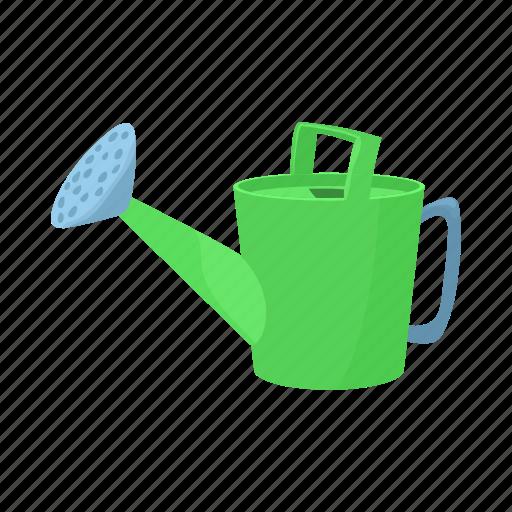 can, cartoon, equipment, garden, gardening, tool, water icon