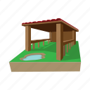 art, barn, building, cartoon, drawing, farm, graphic icon