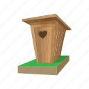 cartoon, door, old, outhouse, toilet, wc, wooden icon
