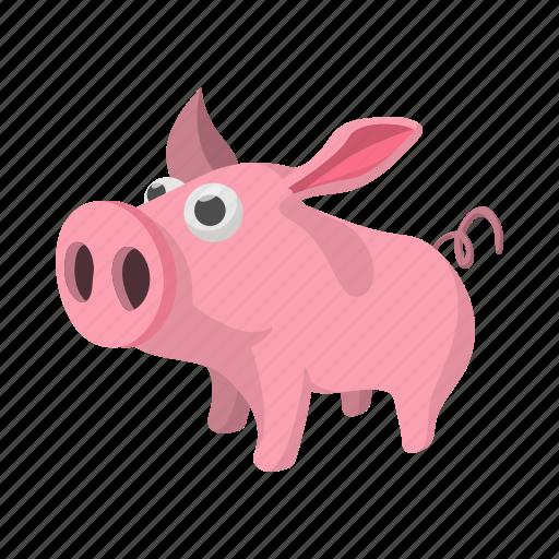agriculture, animal, cartoon, cute, farm, pig, piglet icon