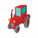 big, cartoon, farm, field, tire, tractor, wheel icon