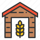 agriculture, barn, farm, farmer, house icon