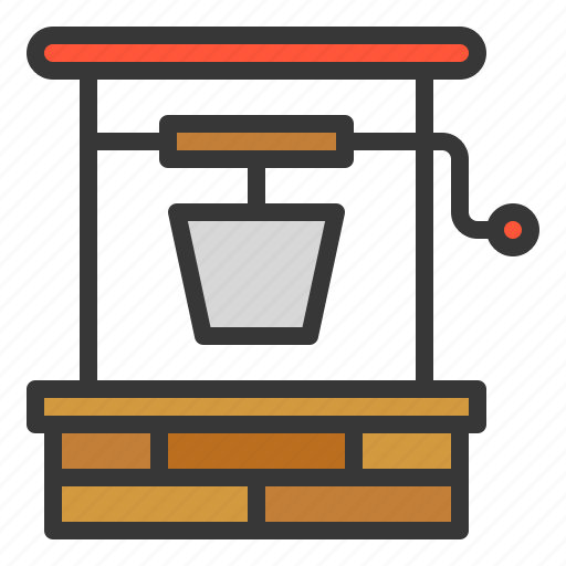 equipment, farm, water, water well, well icon