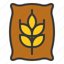 equipment, farm, fertilizer, manure, wheat icon