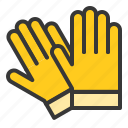 equipment, farm, glove, hand icon