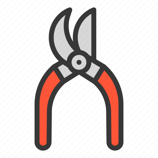 Garden shear, garden scissor, farm, equipment, agricultural equipment, shear icon