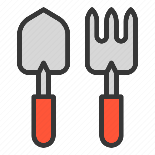 agricultural equipment, equipment, farm, hand fork, trowel icon