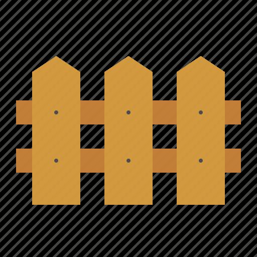 equipment, farm, fence, wood fence icon