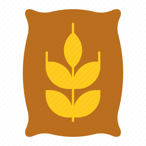 agriculture, equipment, farm, fertilizer, sack, wheat, wood fence icon