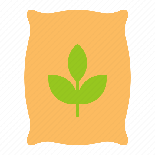 agriculture, equipment, farm, fertilizer, sack, wood fence icon