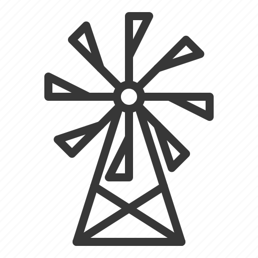 agriculture, energy, farm, wind, windmill icon