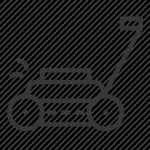 agriculture, equipment, farm, lawn mower icon