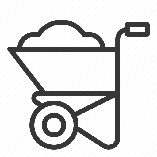 agriculture, cart, cement cart, equipment, farm icon