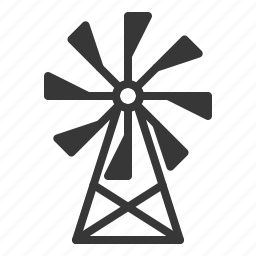 agricultural, equipment, farm, green energy, windmill icon