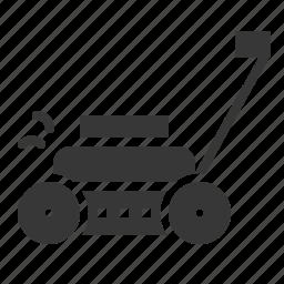 agricultural, agricultural equipment, equipment, farm, glass cut, lawn mower icon