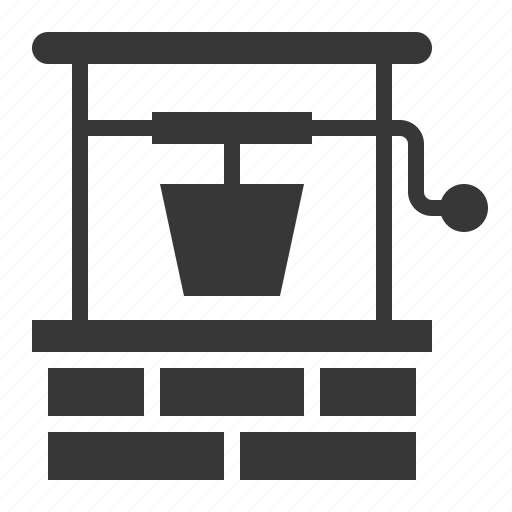 agricultural, equipment, farm, water well, well icon
