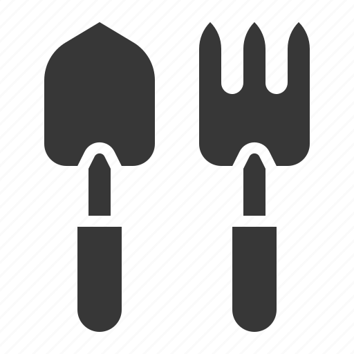 agricultural, agricultural equipment, equipment, farm, hand fork, trowel icon