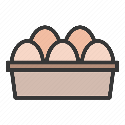 egg, egg tray, farming icon