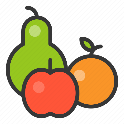 apple, farming, fruit, orange, rose apple icon