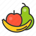 apple, banana, farming, fruit, rose apple icon