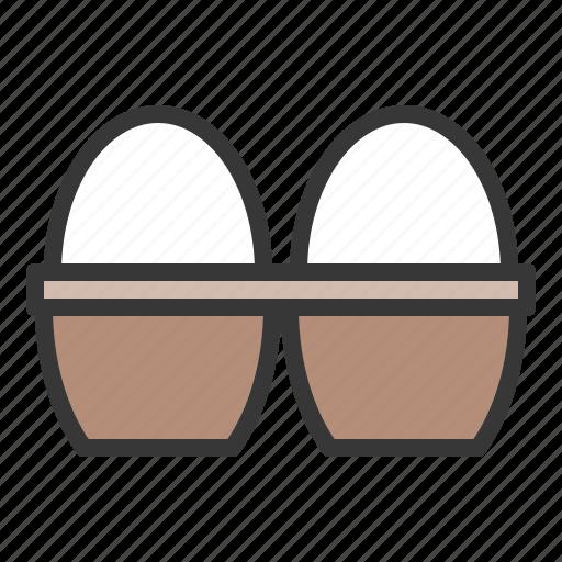 egg, egg tray, farming, food icon
